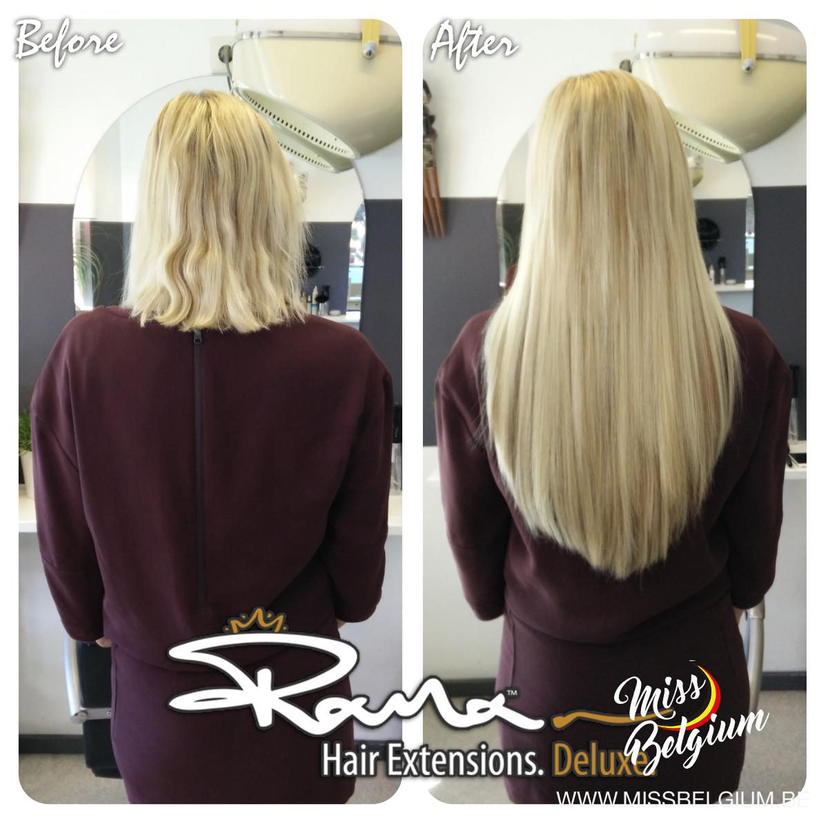 Voor en na met rana hair extensions miss belgium pmusecretfo Gallery